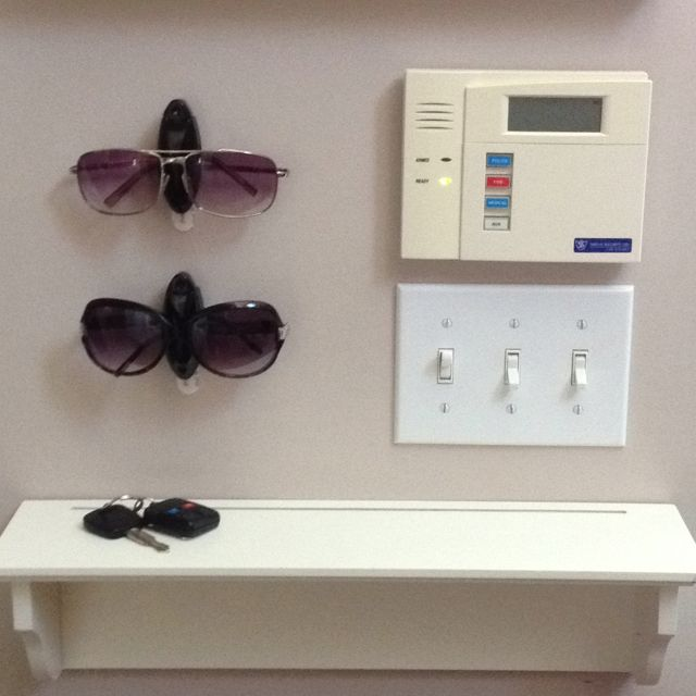 f3080874ba No more misplacing sunglasses thanks to Command™ Hooks! Perfect for  entryway next to the front door
