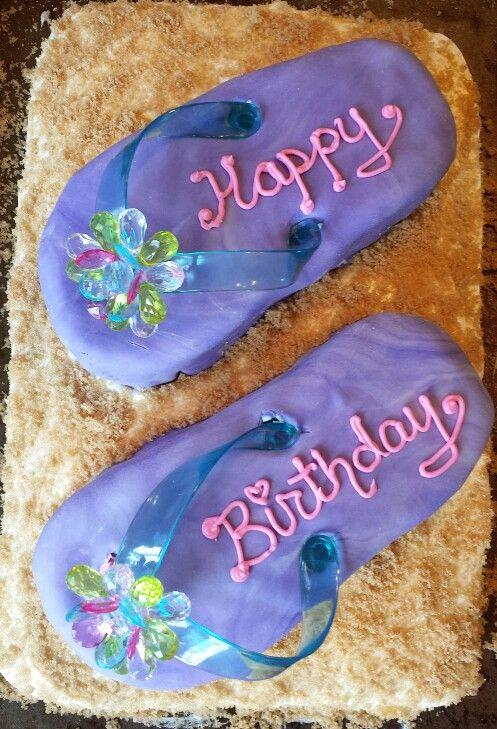 Flip Flop Birthday Cake Flip Flop Birthday