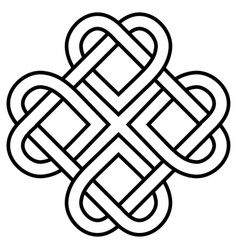 Download Celtic knot rune bound hearts infinity symbol vector image ...