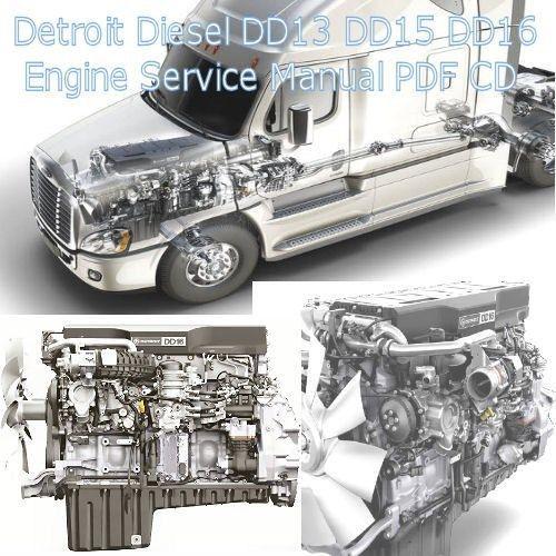 detroit diesel dd13 dd15 dd16 truck engine factory service manual rh pinterest com Detroit DD15 Serpentine Belt Routing DD15 Engine Block Parts Diagram