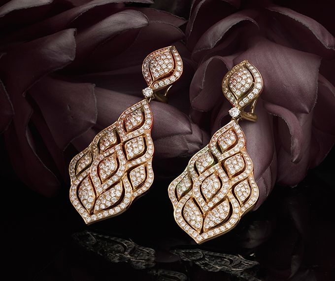 sensation de confort Acheter Authentic rabais de premier ordre Pendants d'oreille - Or rose, perles de culture et diamants ...