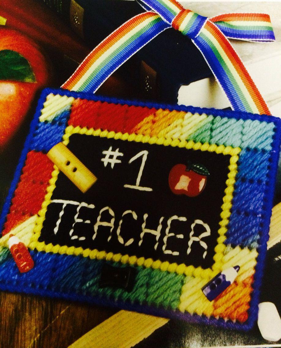 Teacher ornament decoration plastic canvas