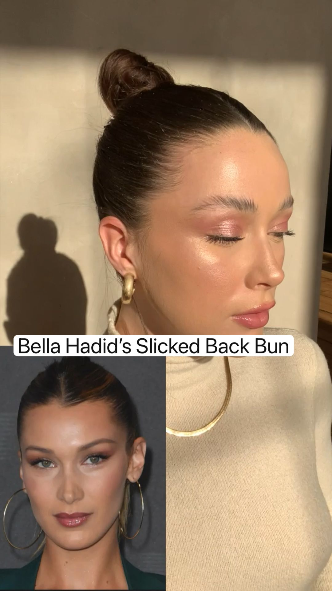 Bella Hadid's Slicked Back Bun
