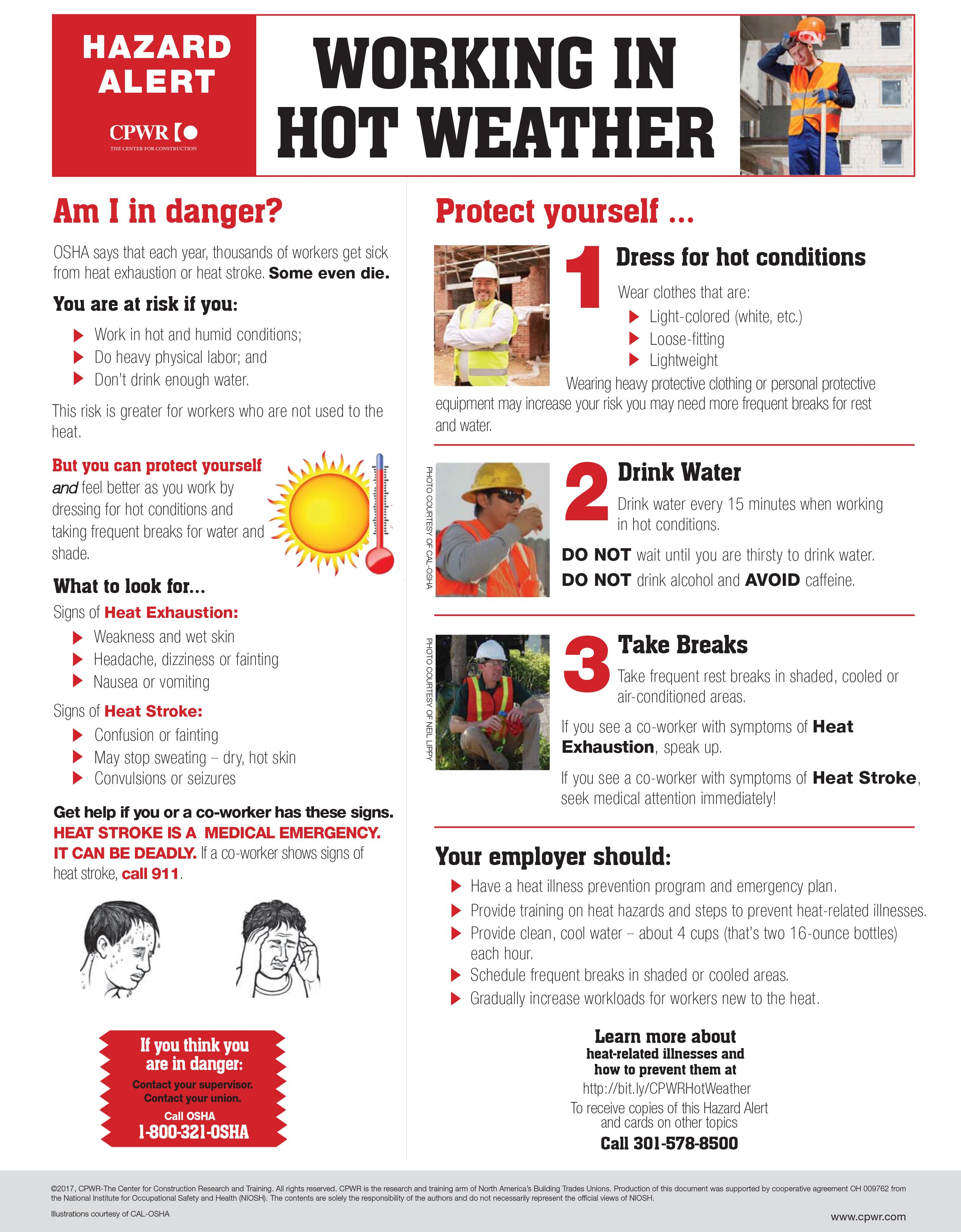 Summer heat can be deadly for construction workers, CPWR