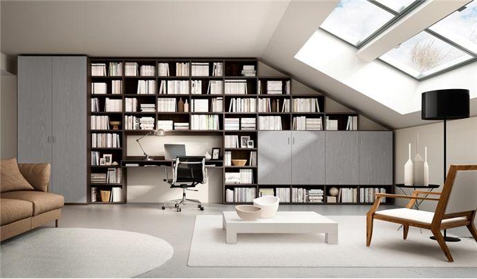 Librerie Componibili Per Mansarda.Libreria Componibile A Parete Systema P Mensole Angolari