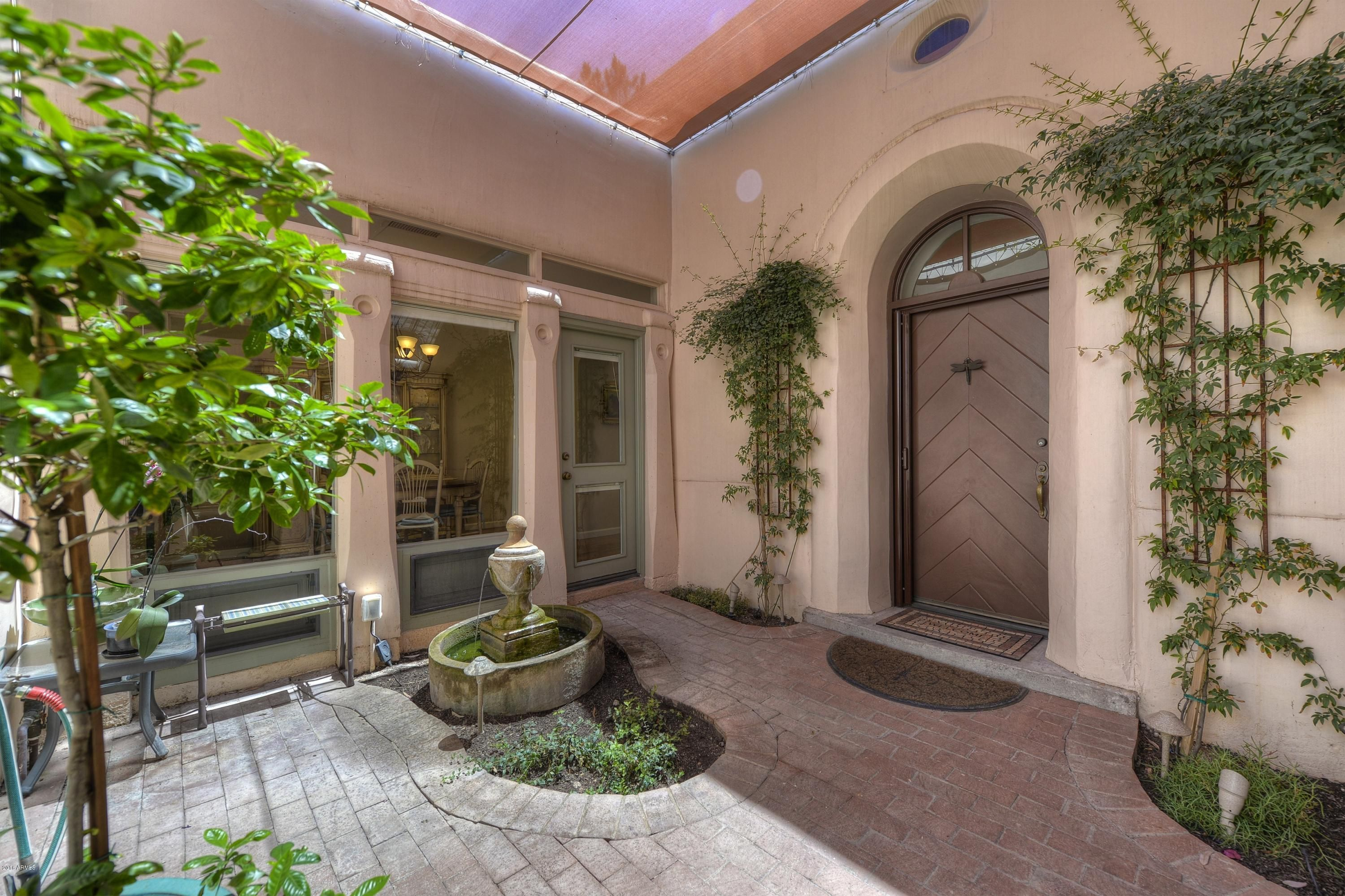Beautiful Home Entrances Beautiful Shaded Entry Patio With Brick Pavers And