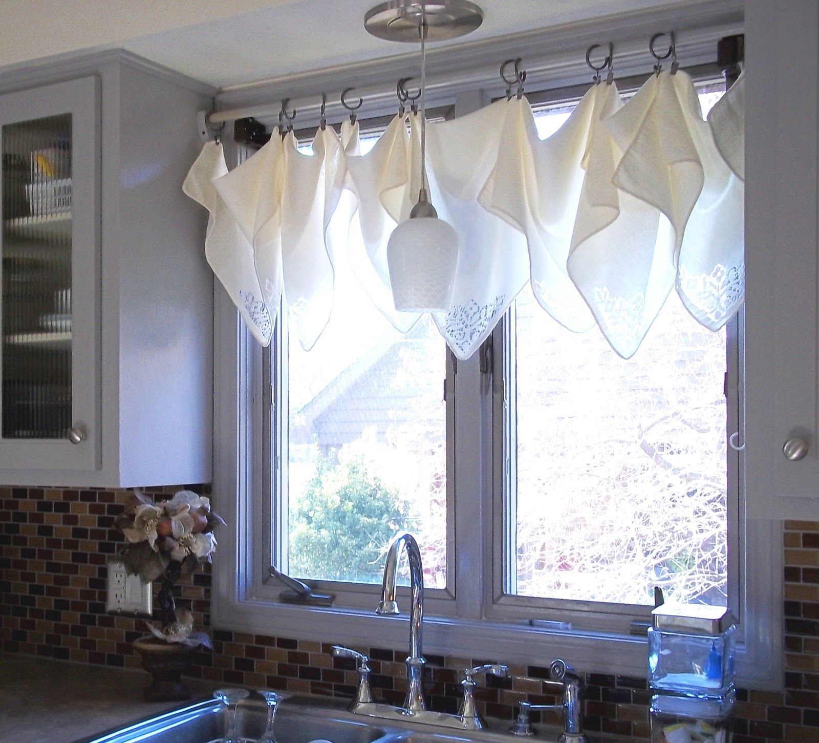 Kitchen Window Dressing Curtains Made From Napkins Curtain Ideas Pinterest Curtains