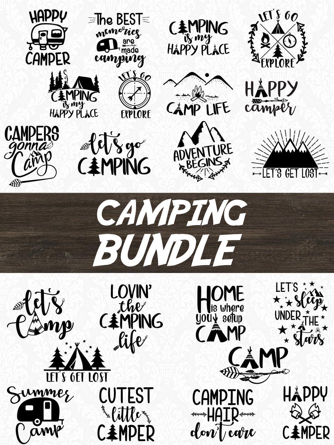 Camping Svg : camping, Cricut, Ideas
