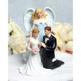 Angels Theme Wedding Love Sent From Heaven Christian Wedding Personalized Wedding Cake Toppers Wedding