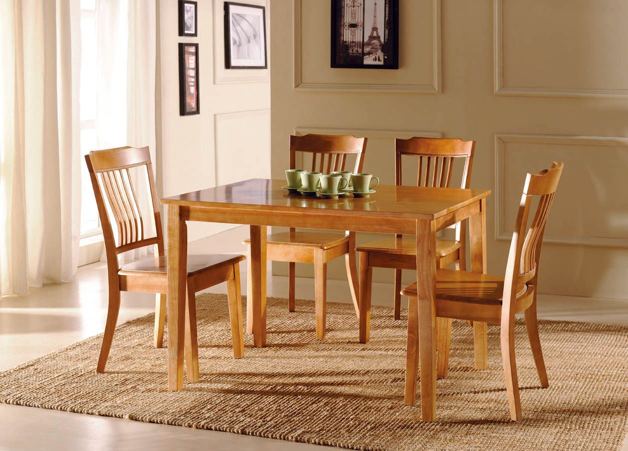 Retro Wooden Dining Table Chair Room Furniture
