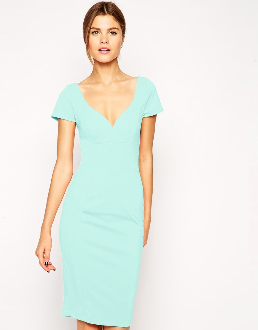 Image 1 of ASOS Sexy Pencil Dress in Scuba | 9 to 5 | Pinterest ...