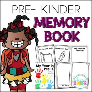 End- of- Year Pre- K Memory Booklet