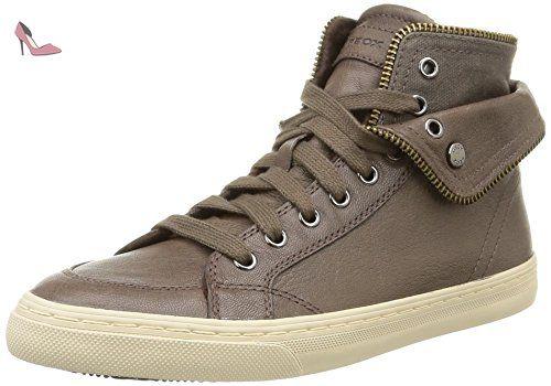 DSneakers New Club Geox D femmeMarronC1018Capra38 Hautes dxBeorC