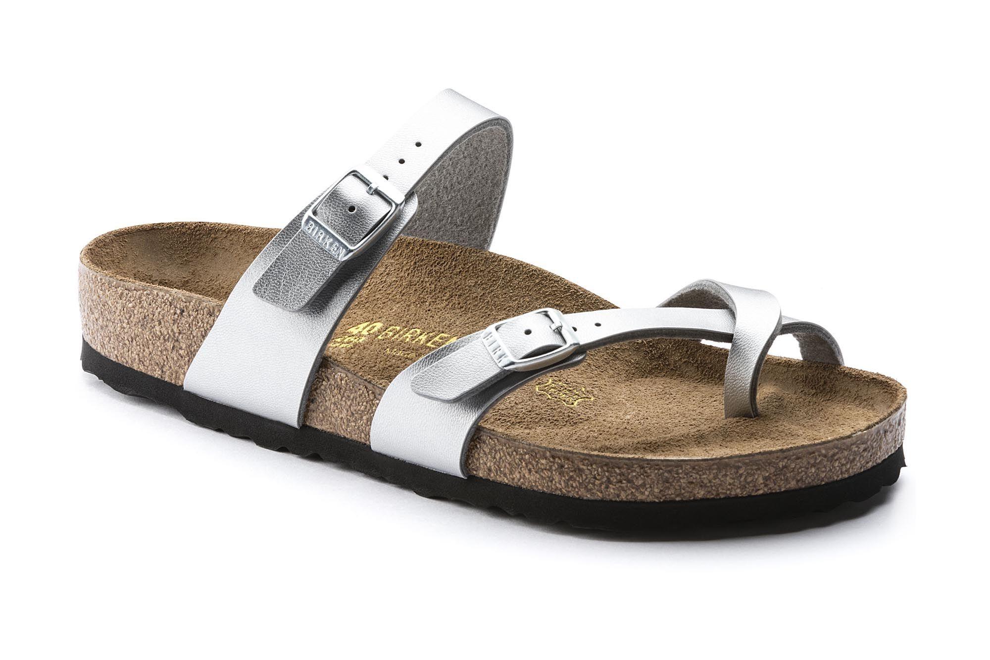Mayari Birko Flor Silver Birkenstock Silver Shoes Birkenstock Shoes