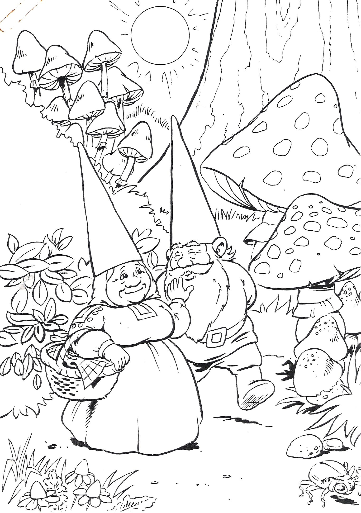 David De Kabouter Coloring Pages Cool Coloring Pages David The Gnome