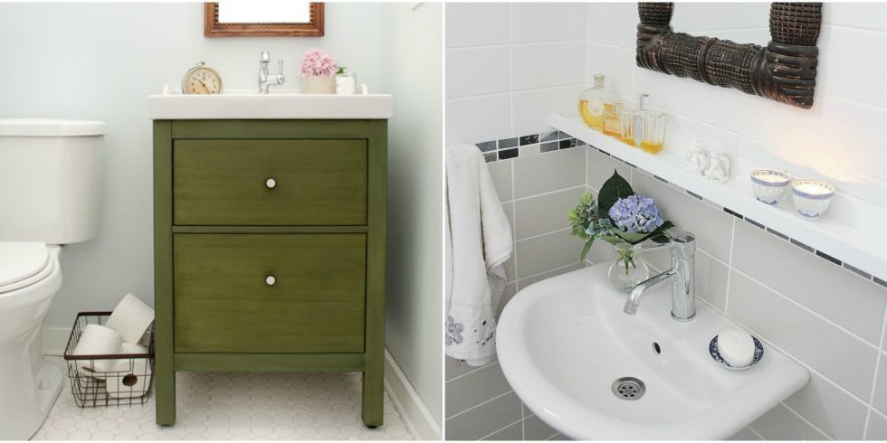 11 Brillant IKEA Hacks for a Super-Organized Bathroom Tiny spaces