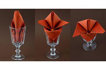 servietten falten im glas servietten falten glas
