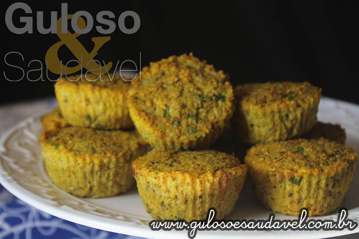Que tal fazer para o seu amor essa delícia de Muffin de Couve flor e Dois Queijos?  #Receita aqui: http://www.gulosoesaudavel.com.br/2016/06/11/muffin-couve-flor-dois-queijos/