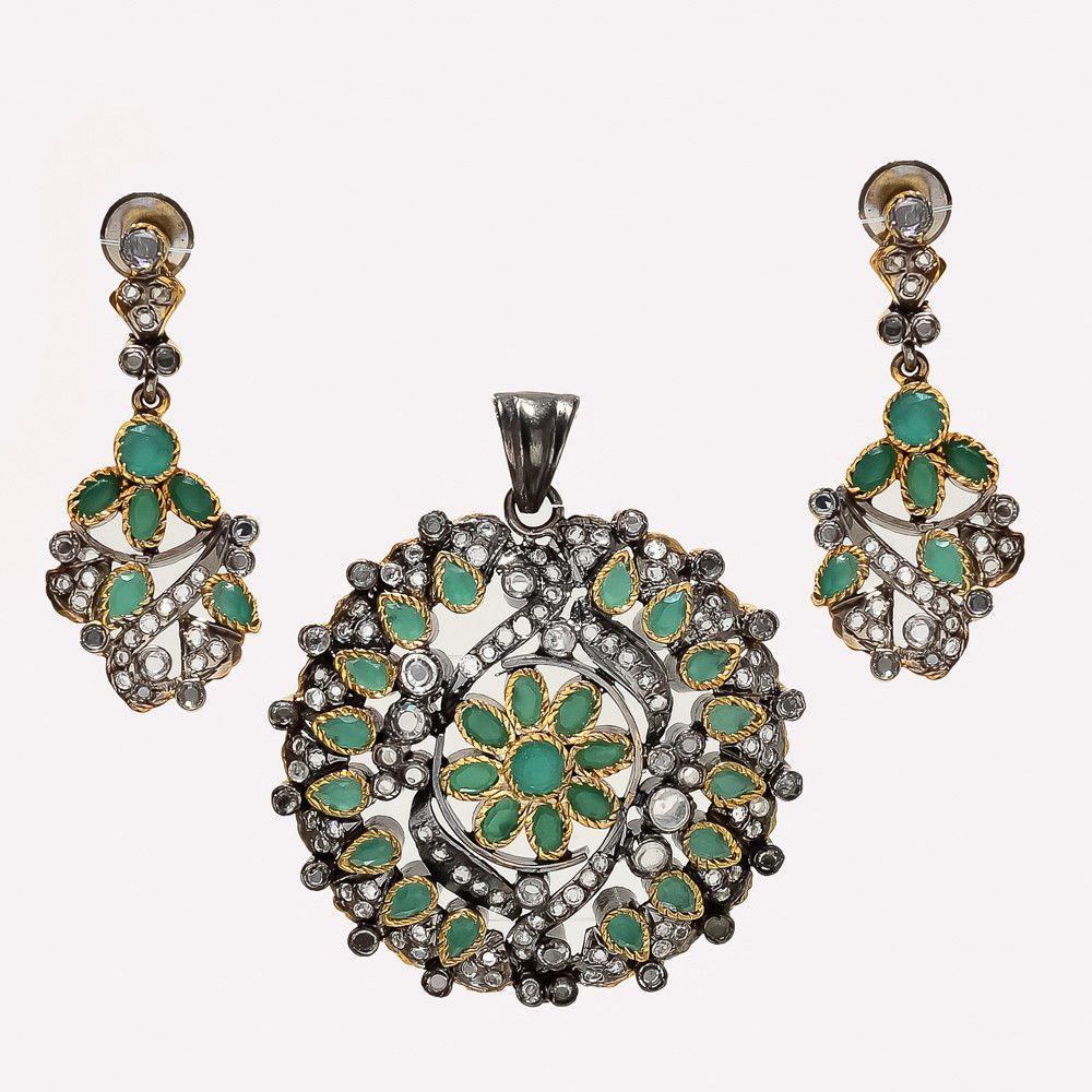Natural Zambian Emerald Earrings 925 Sterling Silver Dangle Drop Women Jewelry Jewelry & Watches
