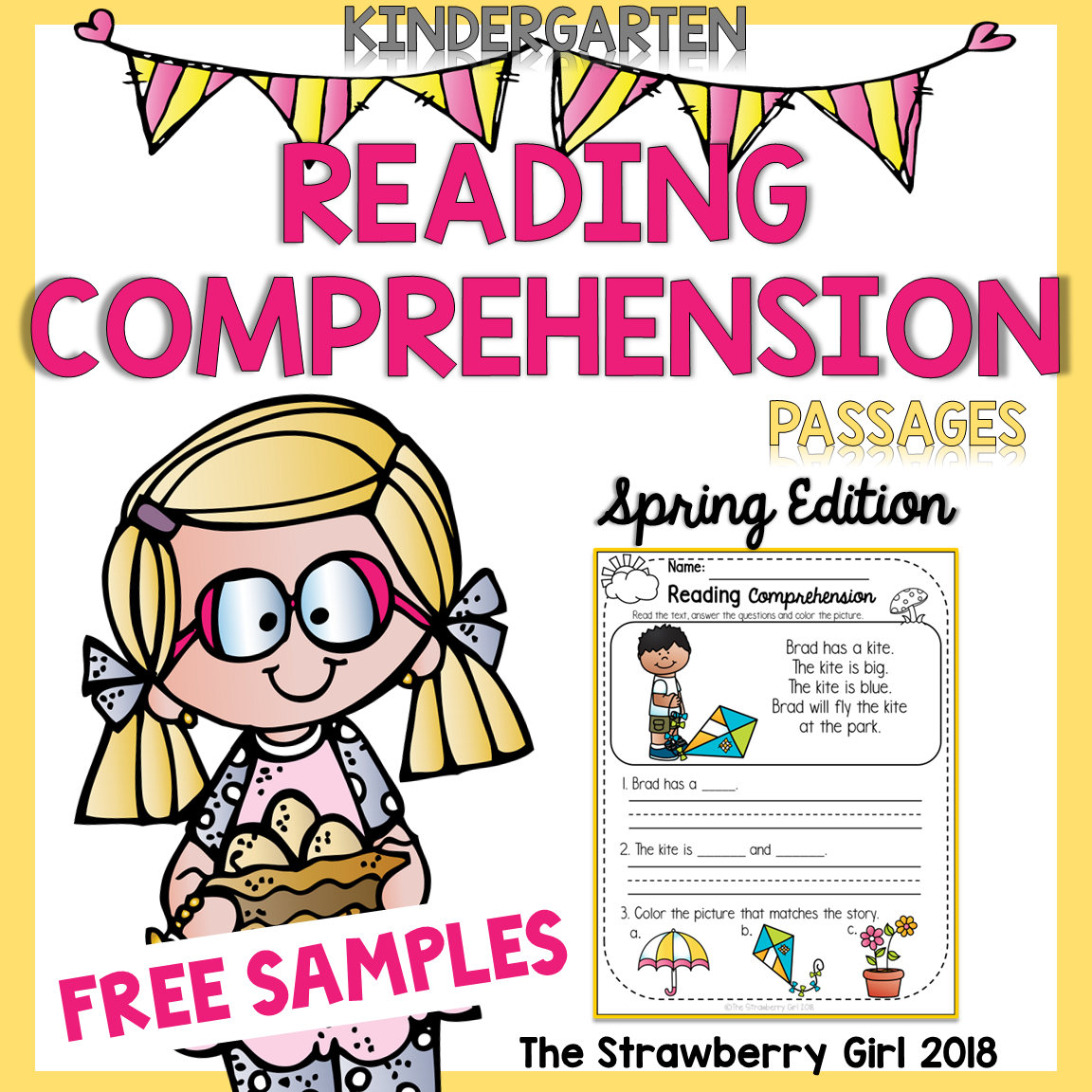 Free Kindergarten Reading Comprehension Passages