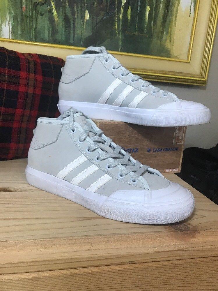 Adidas Originals Mens Matchcourt High RX Shoes Grey Suede