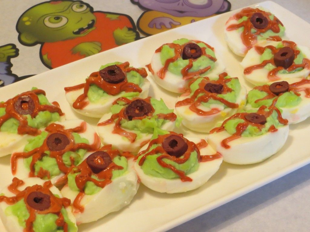 These ghoulish deviled eggs are a sure hit at your