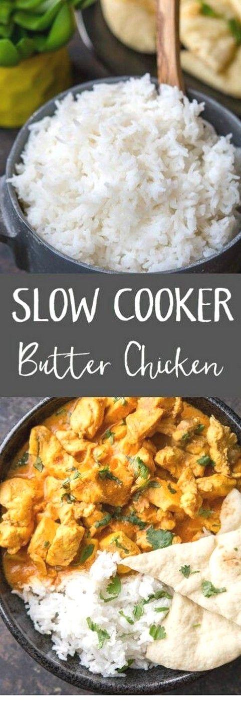 Slow Cooker Butter Chicken | Crockpot Recipes #healthycrockpotchickenrecipes