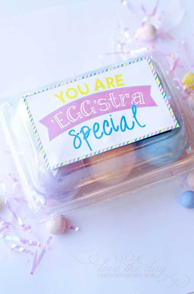 FREE Easter Printables:: Eggstra Special Tags by Love The Day