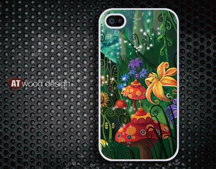 iphone 4 case iphone 4s case iphone 4 cover Comic flower  image design printing. $13.99, via Etsy.