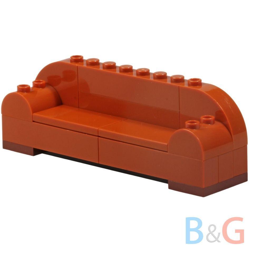 Love seats Lego White Sofa MOC Mini Figures Home Interior Furniture Couch