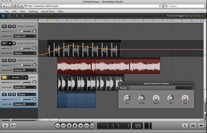 Soundation is a powerful online music studio with recording