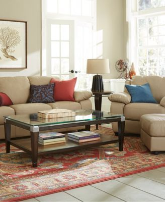 Blair Leather Sofa Living Room Furniture Collection | macys.com ...