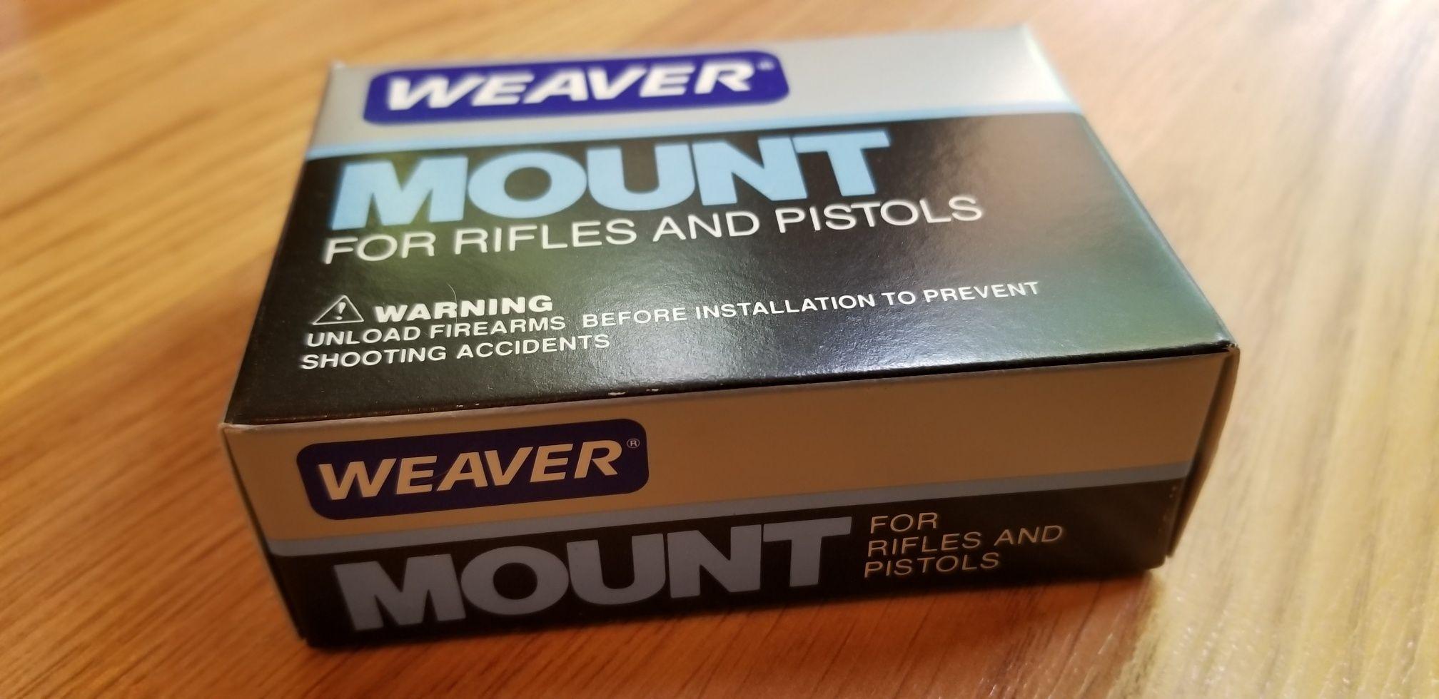 """WEAVER scope mount for AirRifles & Pistols 1"""" Detachable"""