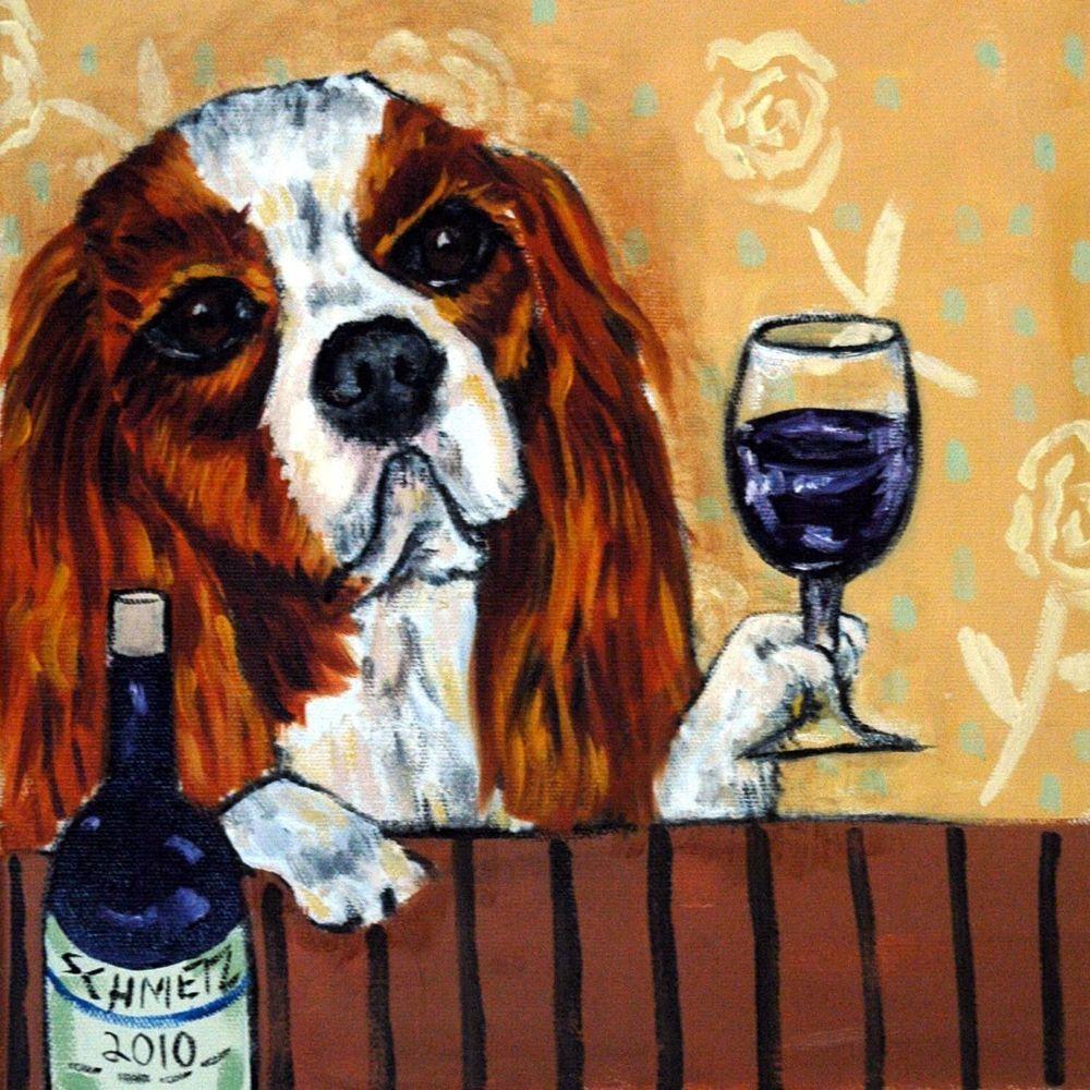 Cavalier King charles spaniel at the martin bar picture animal dog art tile gift