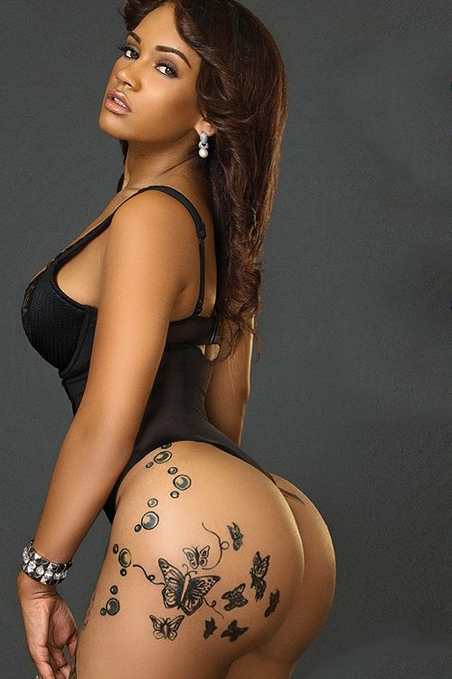 Latina With Tattoo Above Ass