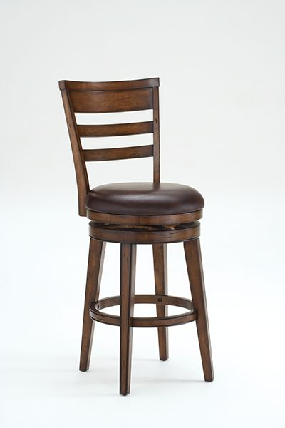 Lovely Wood Swivel Counter Stool