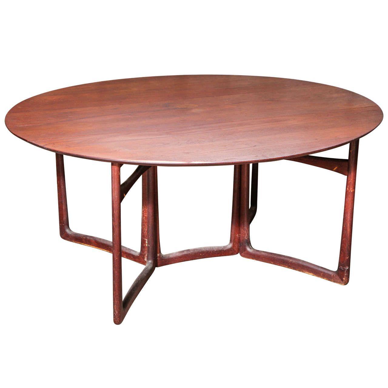 Peter Hvidt and Orla M¸lgaard Nielsen Drop Leaf Dining Table