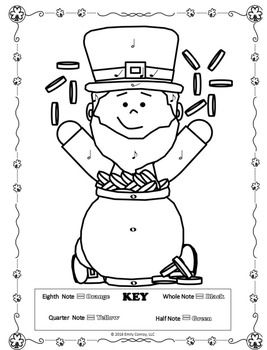 St Patricks Day Music Coloring Pages (16 St. Patrick's Day