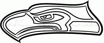 seahawks logo outline google search shrinky dink stencils rh pinterest com