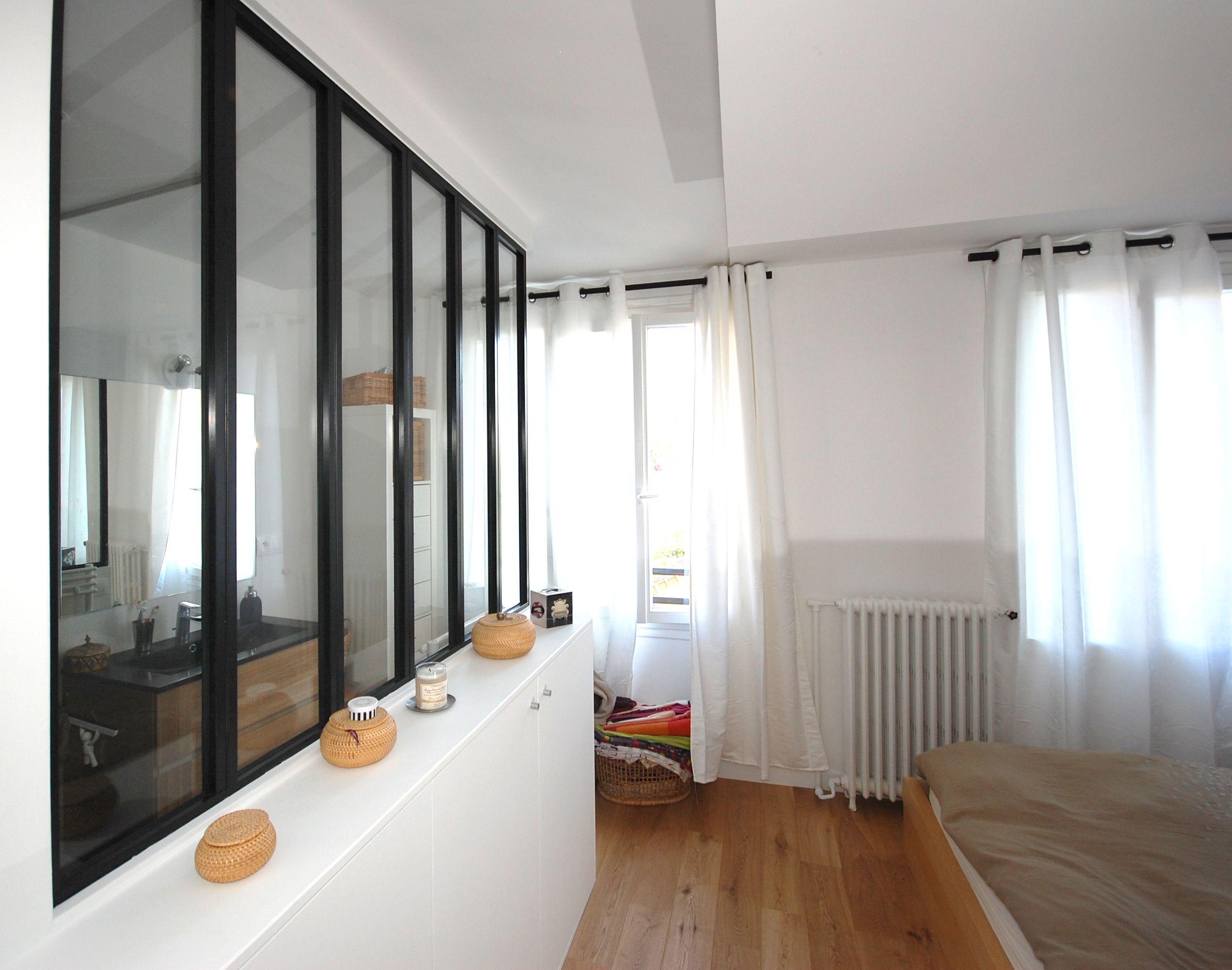 une nouvelle salle d 39 eau dans la chambre separation. Black Bedroom Furniture Sets. Home Design Ideas