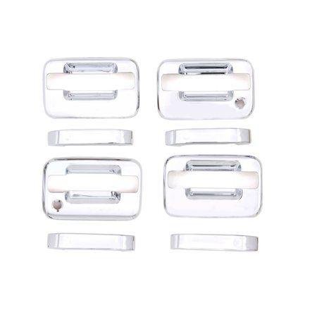 Avs 04 14 Ford F 150 No Keypad Pass Keyhole Only Door Handle Covers 4 Door 8pc Set Chrome Chrome Door Handles Door Handles Chrome