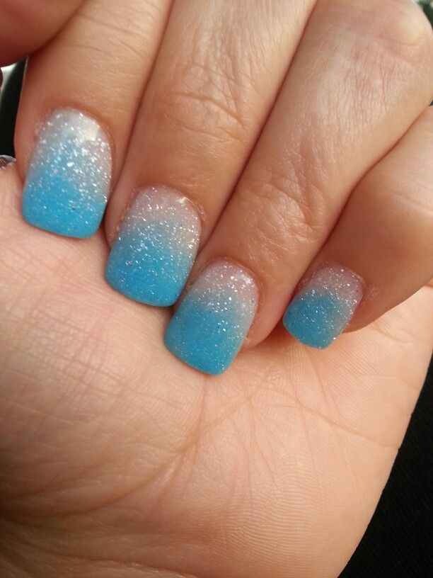 Baby sky blue & frosted white (nexgen nails) - Baby Sky Blue & Frosted White (nexgen Nails) Nails Pinterest