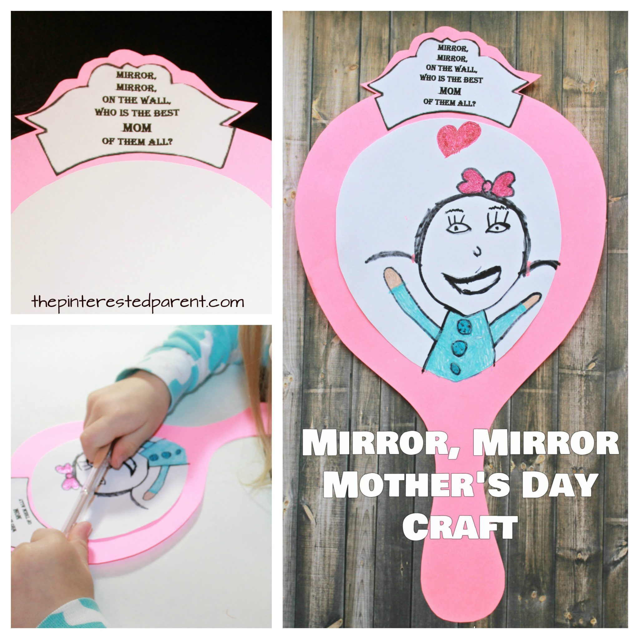 Free Printable Templates Mirror On The Wall Whos Best Mom Of Them All Mothers Day Craft And Gift Idea For Kids To Make