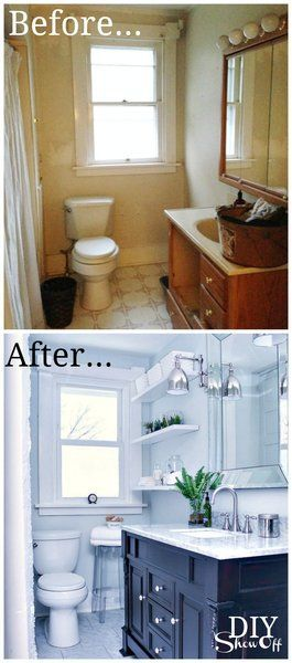 Photo of Bathroom Before and After – DIY Show Off ™ – DIY Decorating and Home Improvement Blog