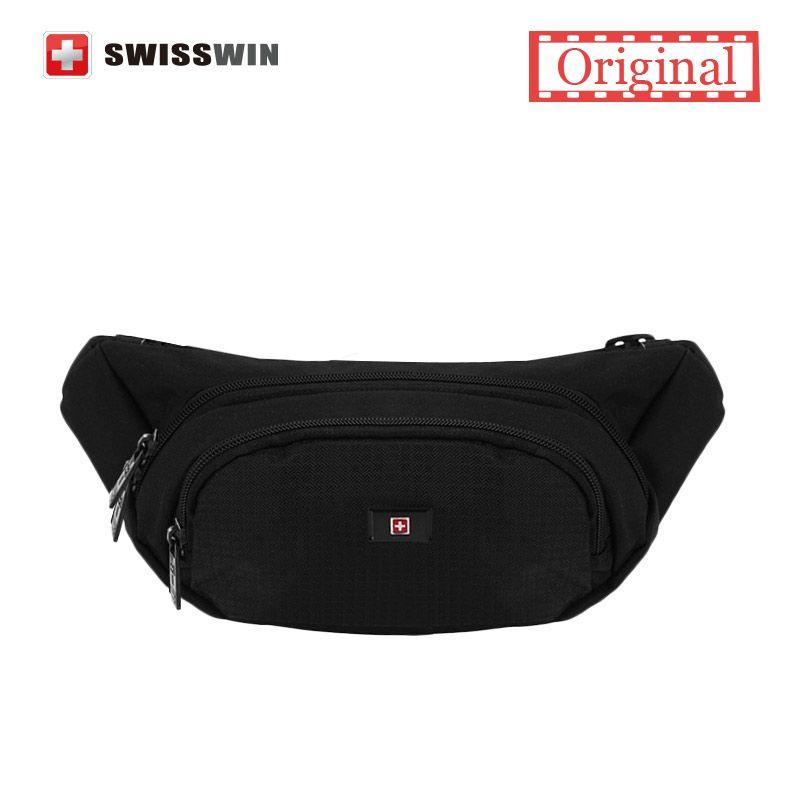 Swisswin Pack Male Water Waist For Men And Women Black Travel Belly Bag Mobile Phone Money Belt
