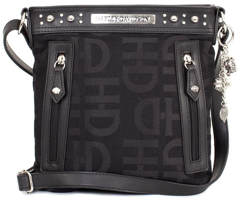 3e4a229bf3e7 Harley-Davidson® Women s HD Jacquard Crossbody Bag HD3437J-BLACK ...