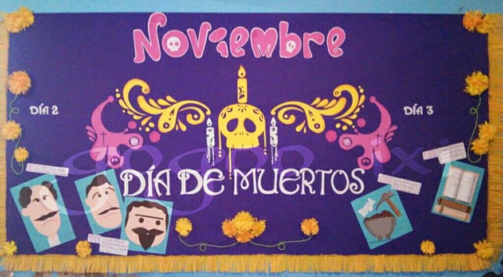Periodico mural noviembre mis trabajos pinterest for Contenido del periodico mural