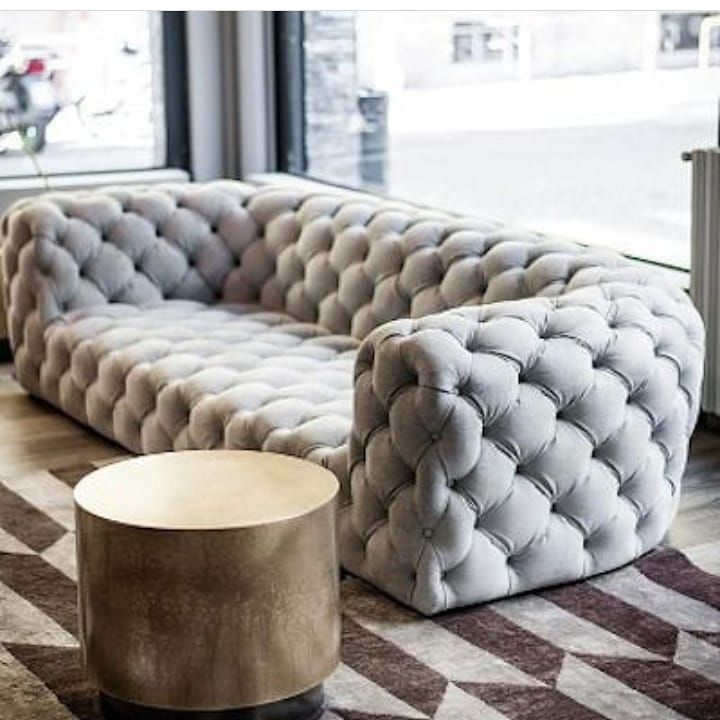 Interior Decor On Instagram Tufted Sofas Are Quite Unique Sofas That Need And Require Rapt Att Unique Sofas Quality Bedroom Furniture Living Room Decor Cozy