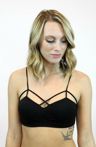 866a02b2968ab2 Little seamless bralette in black by NikiBiki