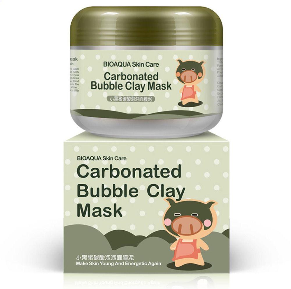 100 Pz Lotto Bioaqua Cura Della Pelle Carbonato Maschera Facciale Di Argilla Bolla 1 Carbonated Bubble Clay Mask Moisturizing Face Mask Skin Care Moisturizer